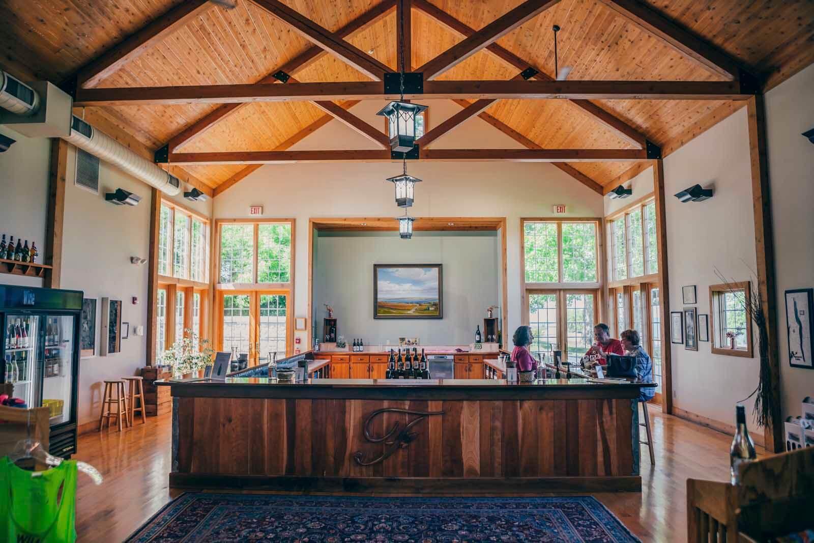 Tasting room at Fulkerson Vineyard on Seneca Wine Trail