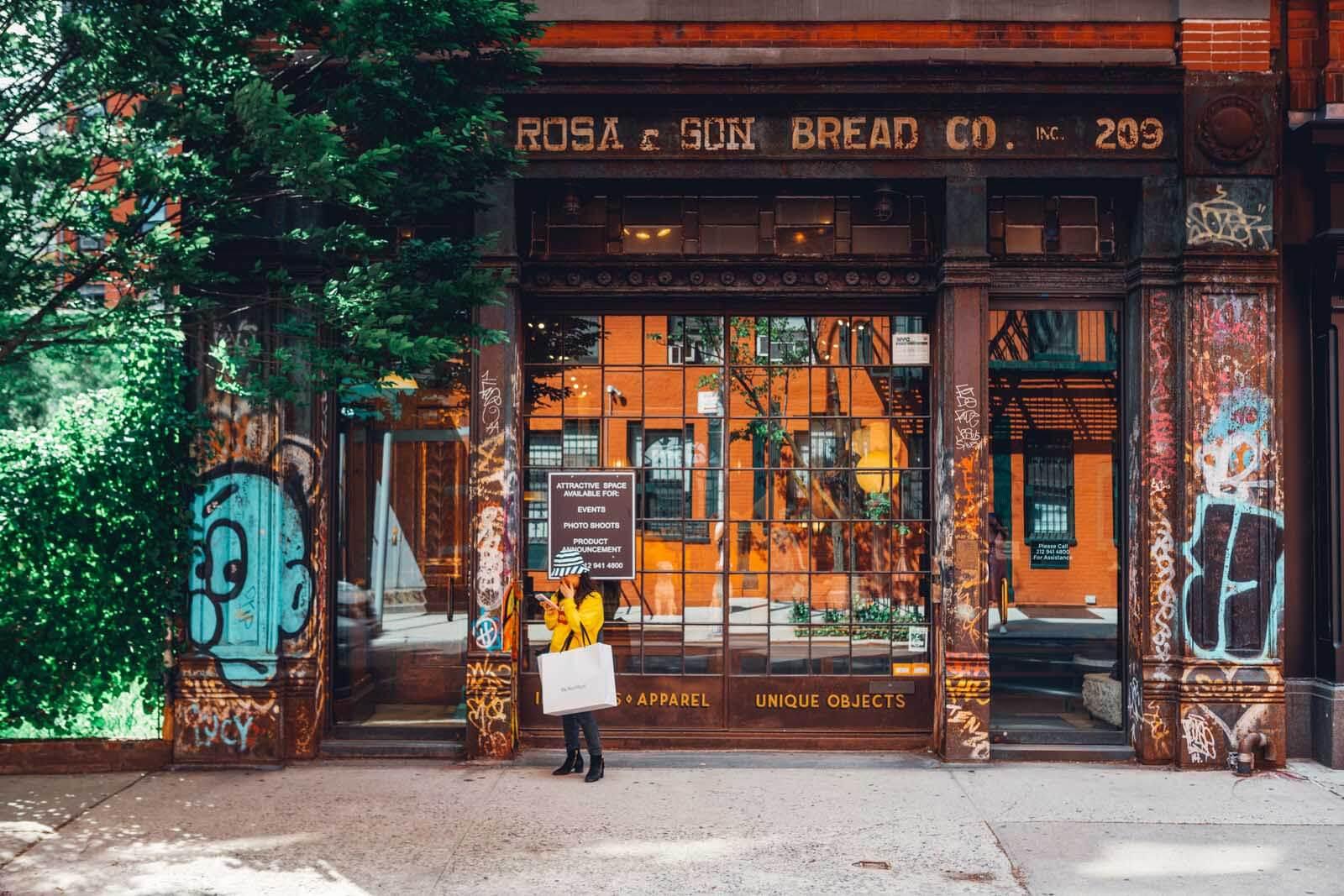 exterior of G La Rosa and Son in Nolita New York City