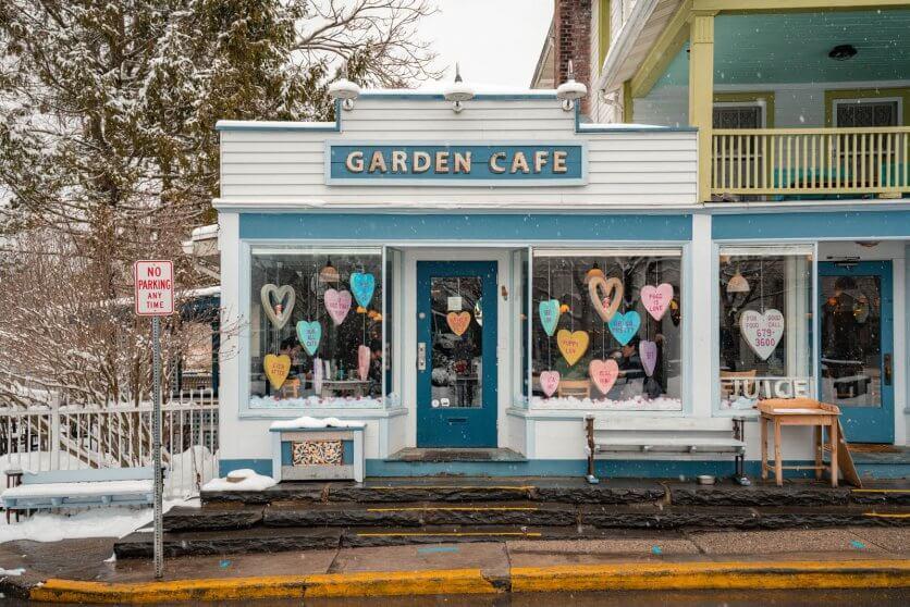 Garden Cafe in Woodstock New York in the Catskills