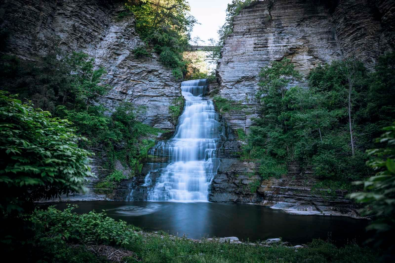 Glenora Falls in Finger Lakes