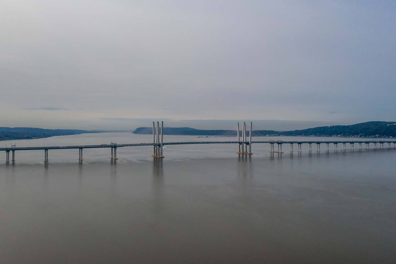 Governor Mario Cuomo Bridge over the Hudson River in Tarrytown NY