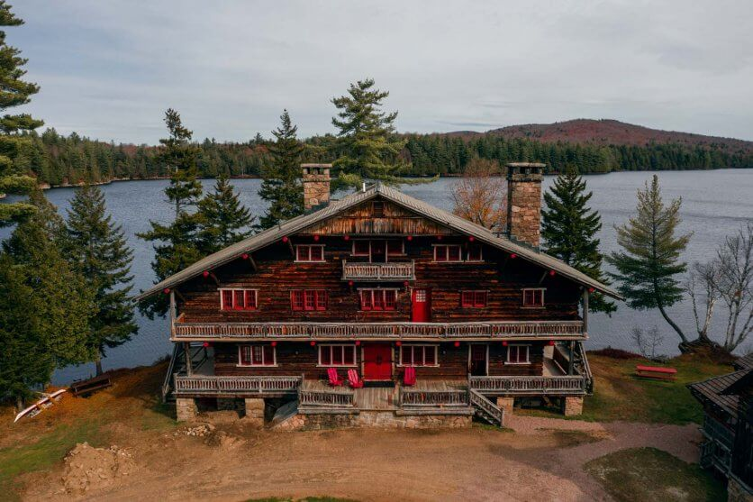 Great Camp Sagamore on Sagamore Lake in the Adirondacks New York
