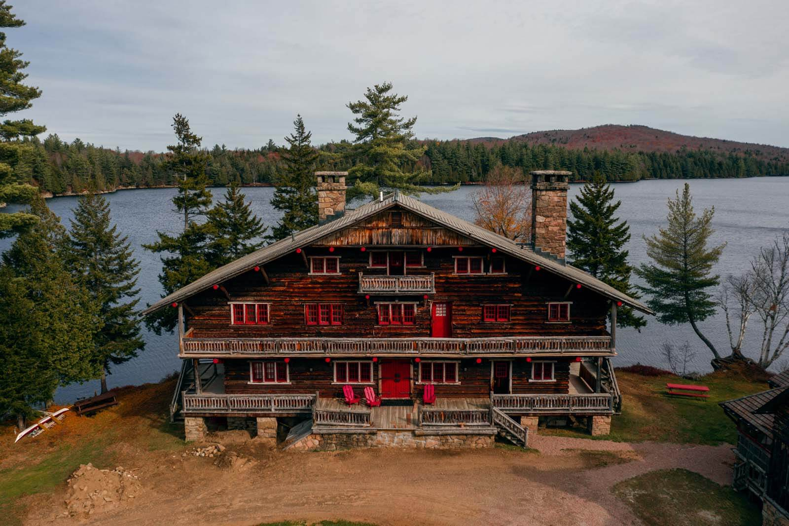 Great Camp Sagamore on Sagamore Lake in the Adirondacks New York
