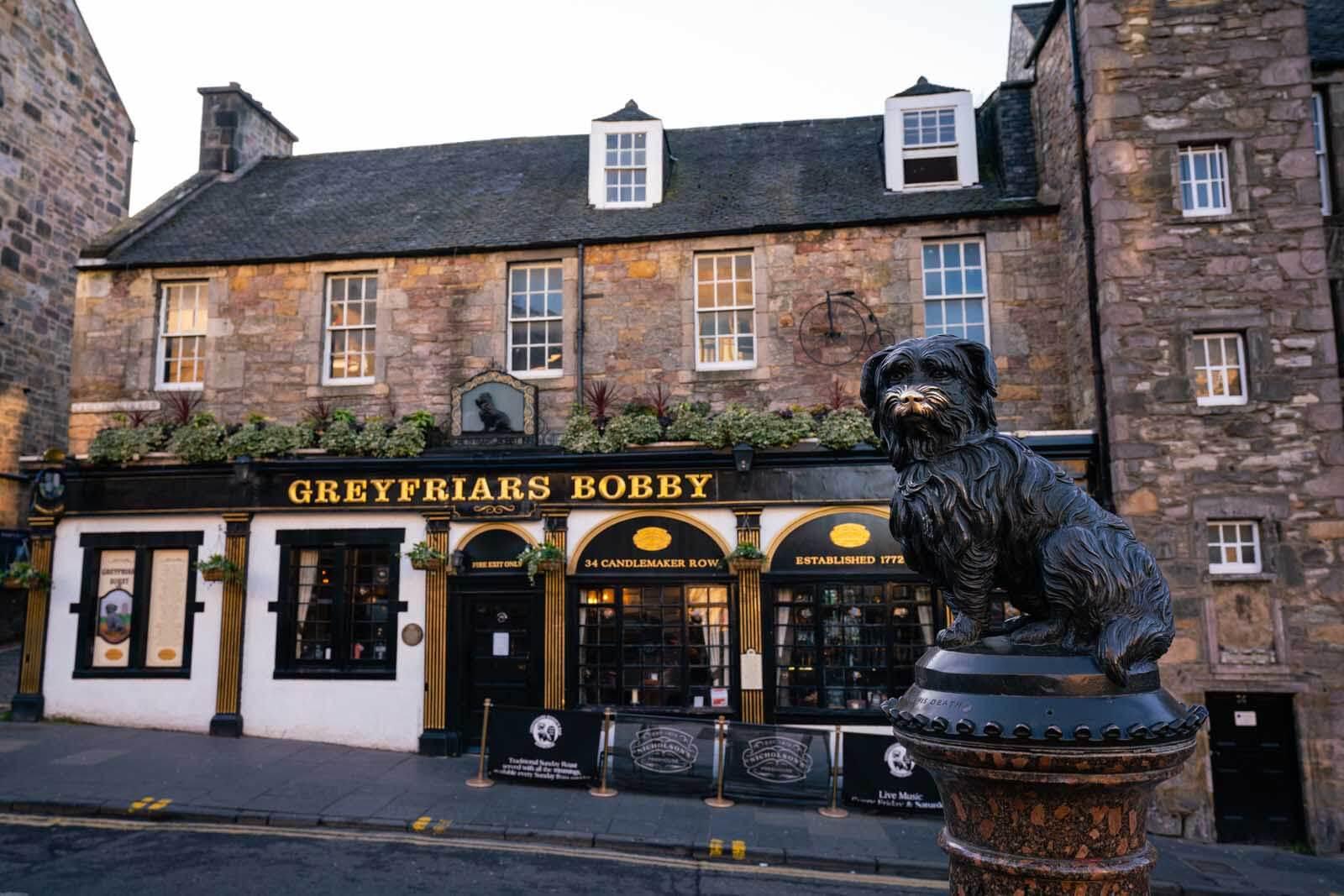 Greyfriars Bobby pub in Edinburgh