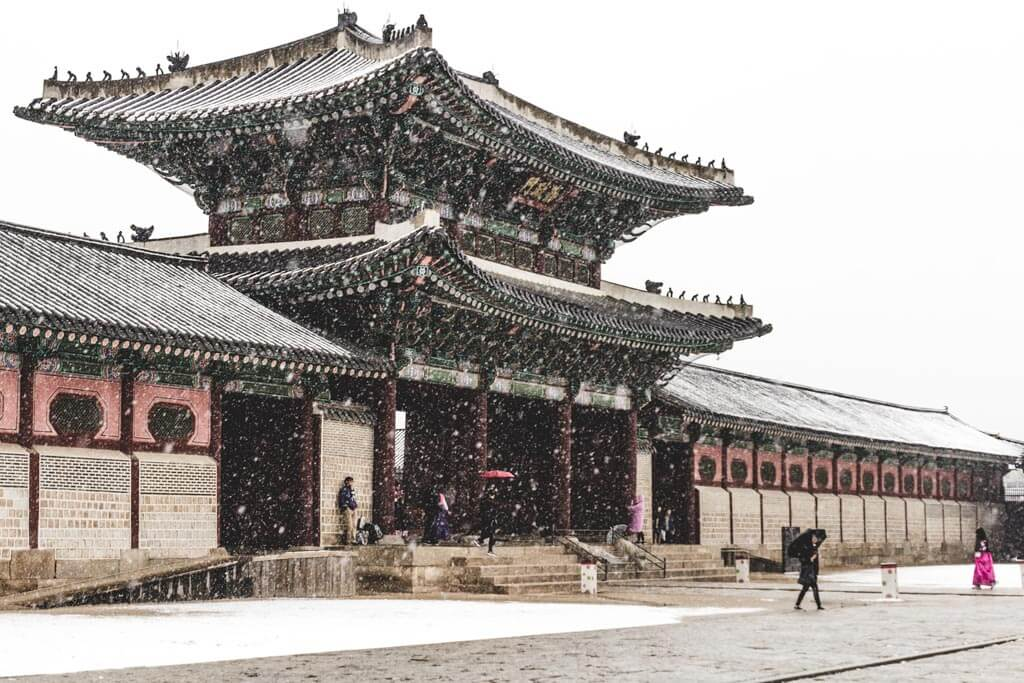 Gyeongbokgung Palace in Snow