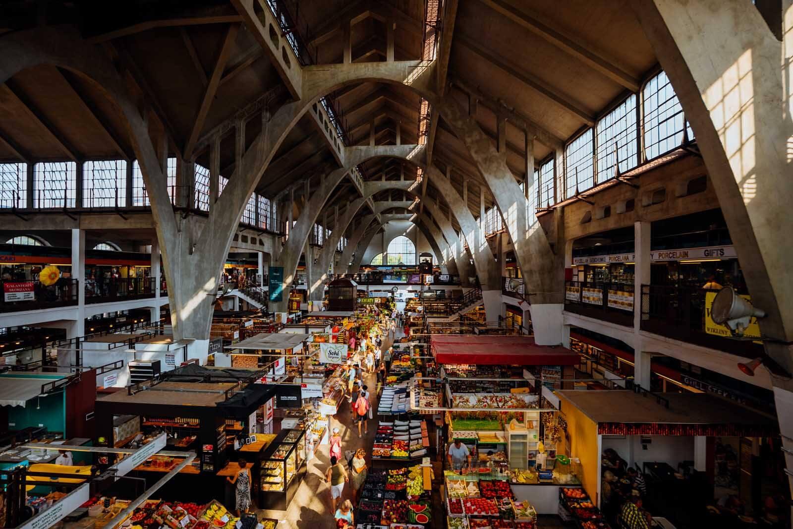 Hala Targowa Market inside in Wroclaw