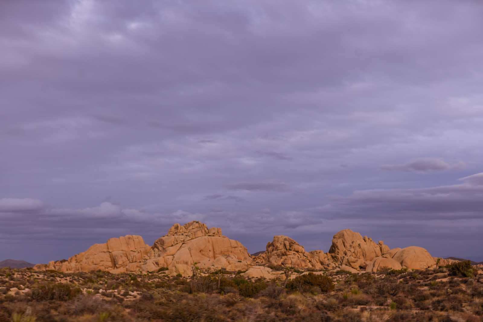 Hall of Horrors from a distance at Joshua Tree
