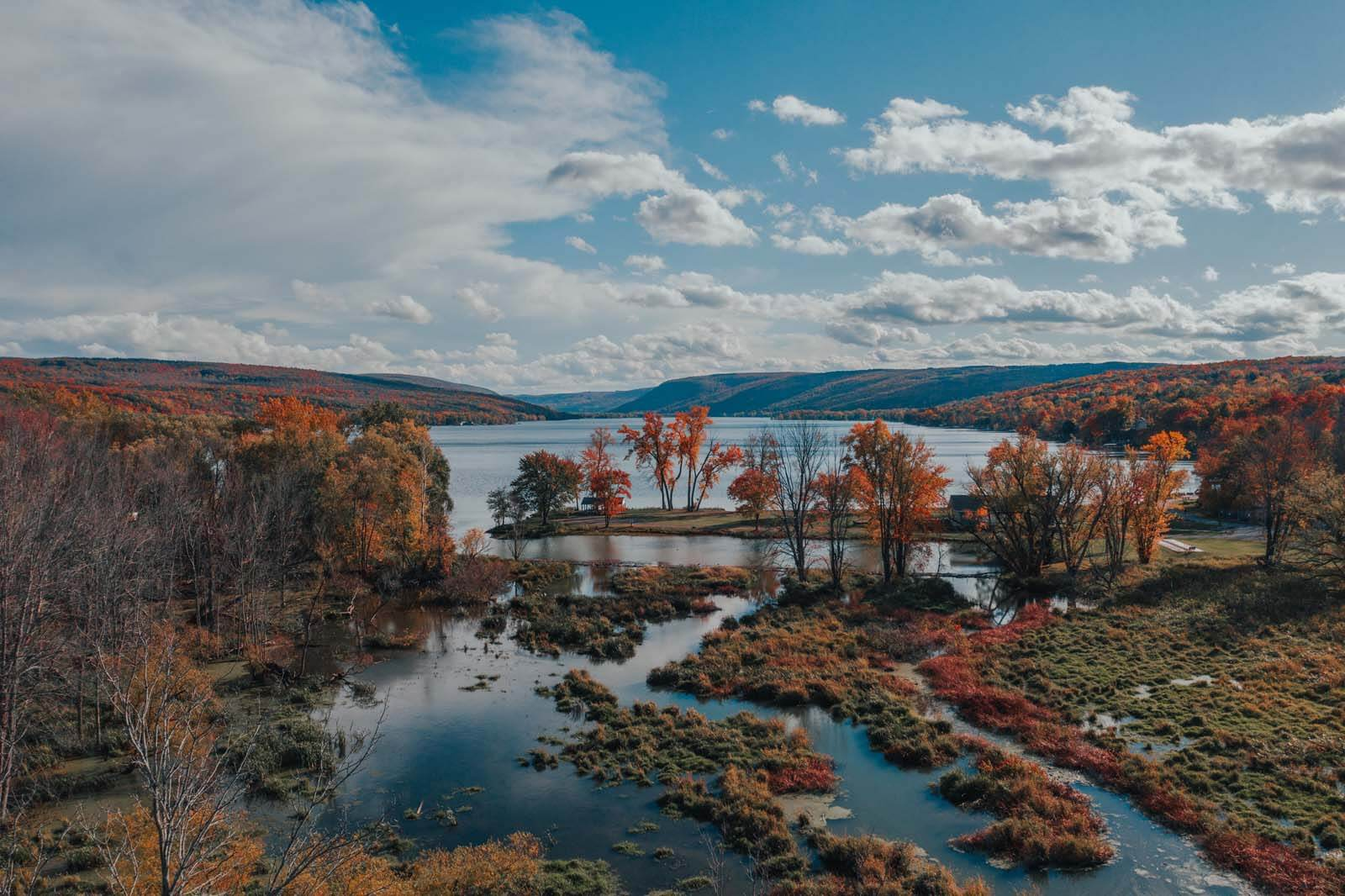 Honeoye Lake in the Finger Lakes New York
