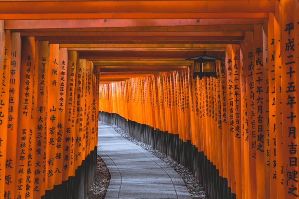 Orange Fushimi Inari Tori Gates