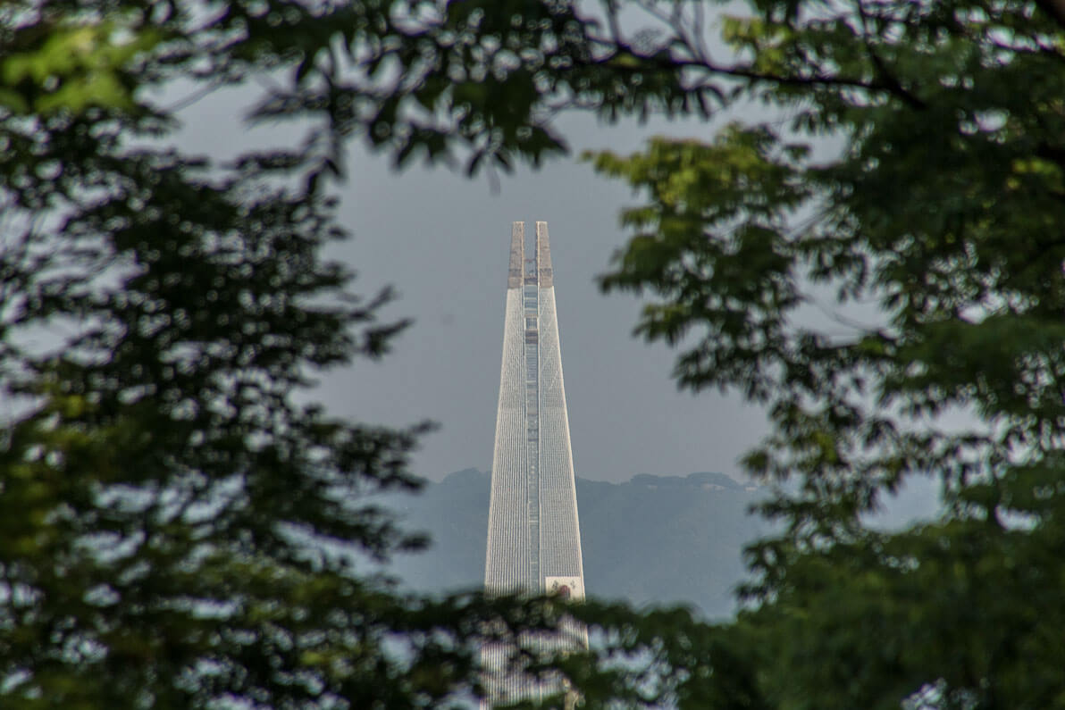Lotte Tower from namsan tower