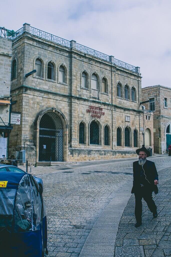 Jewish man in Old City
