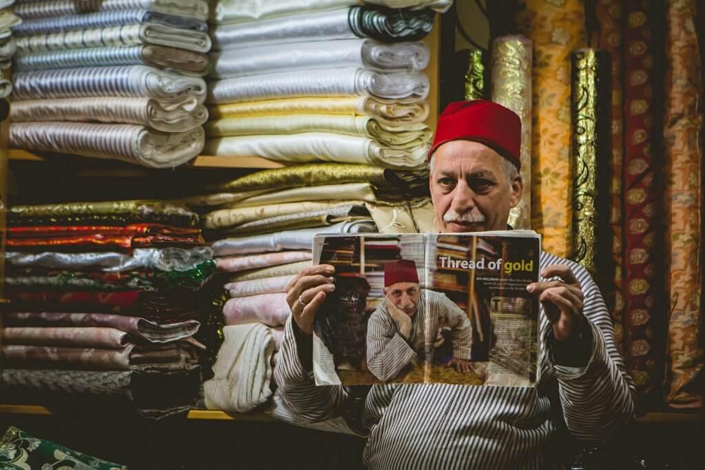 Jerusalem Old City Fabric Merchant