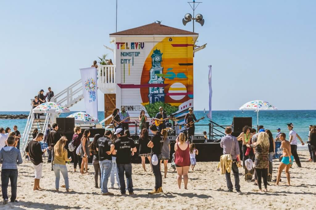Tel Aviv Beach Lifeguard tower party