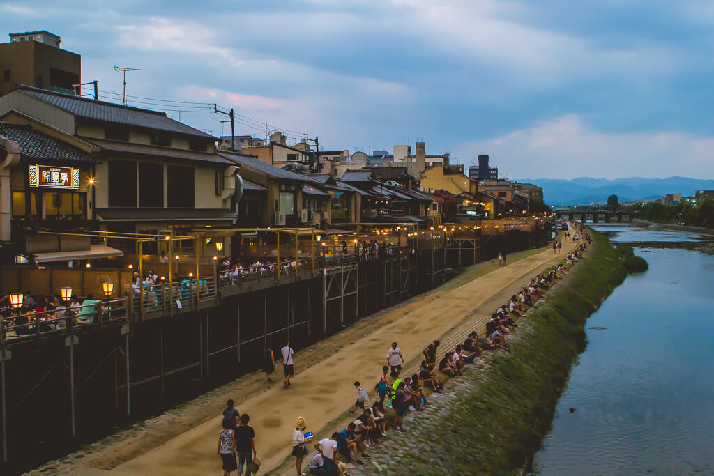 restaurants in kawaramachi kyoto by the river