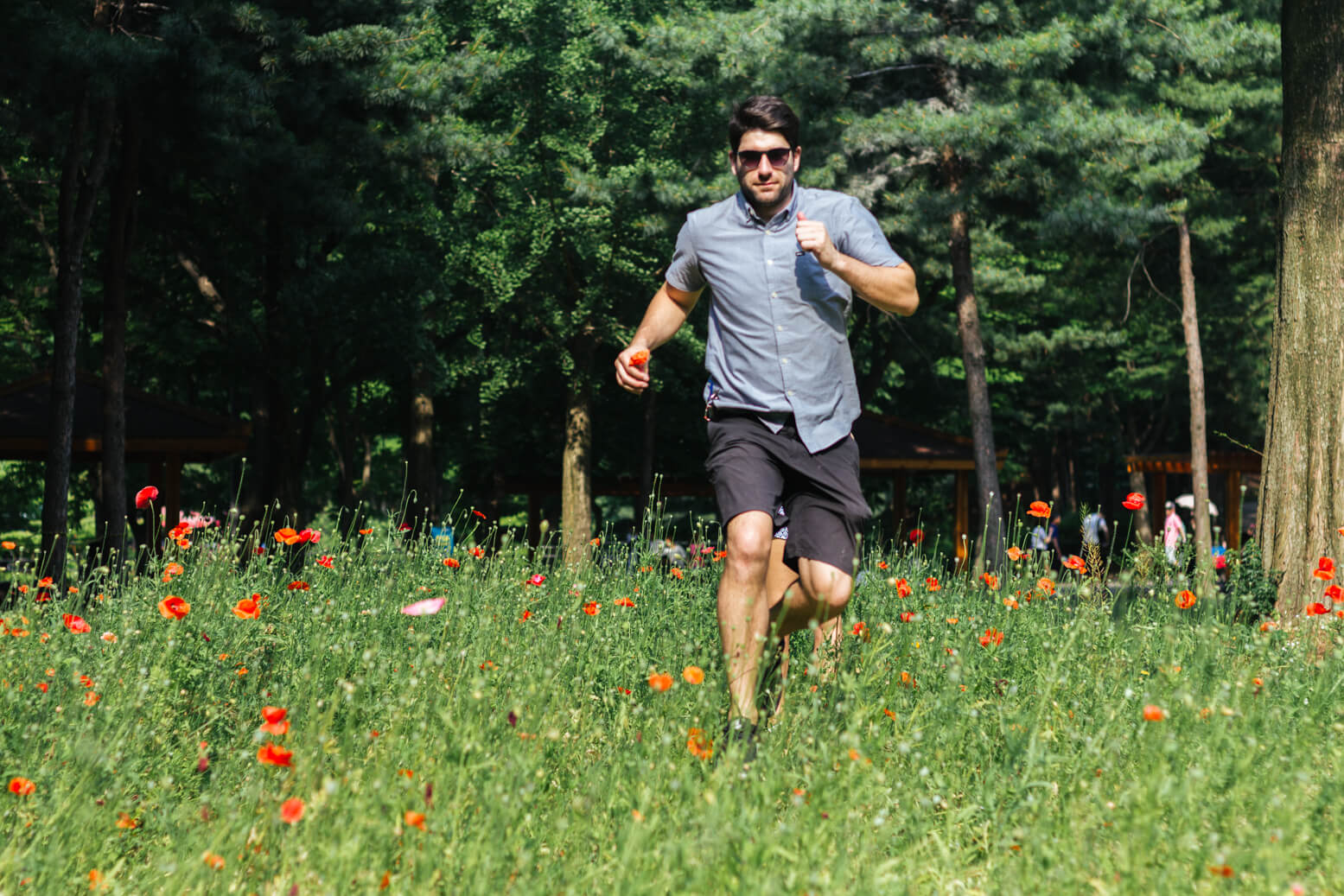 Scott running at Grand Seoul Park