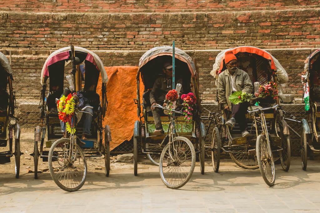 Rickshaw Kathmandu Nepal