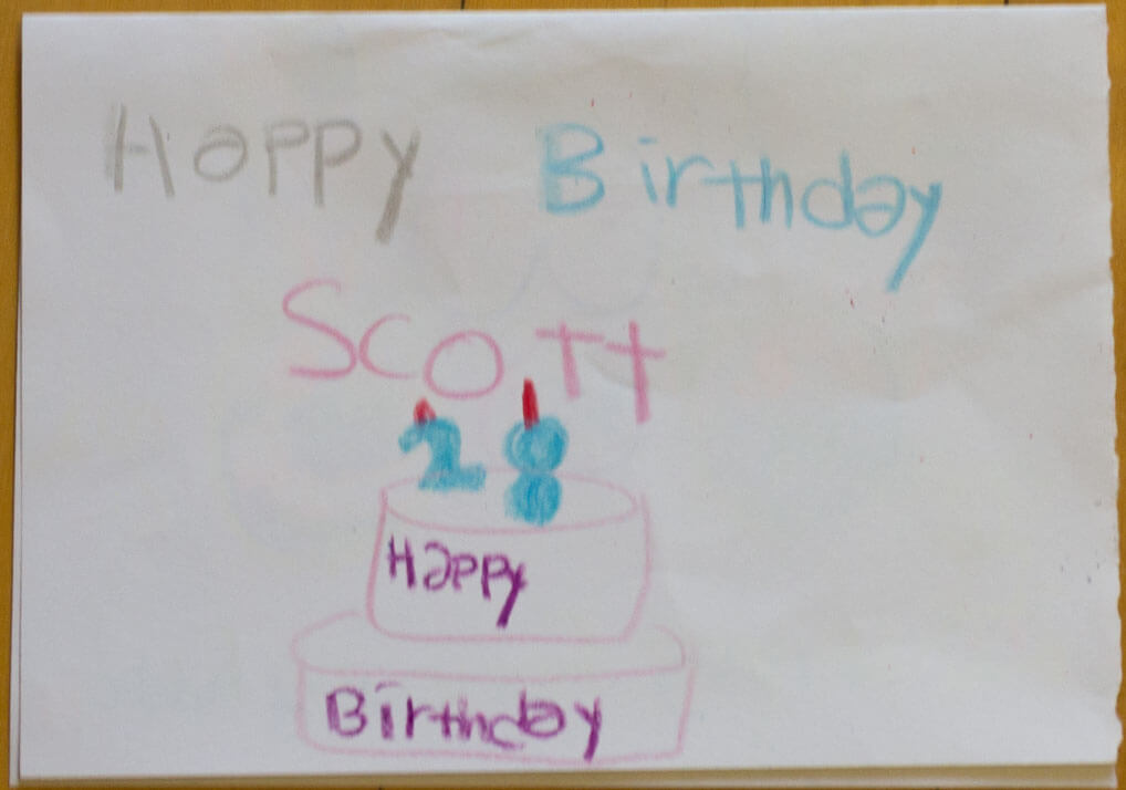 Celebrating My Birthday In Korea 26 Student Drawn Cards Bobo And