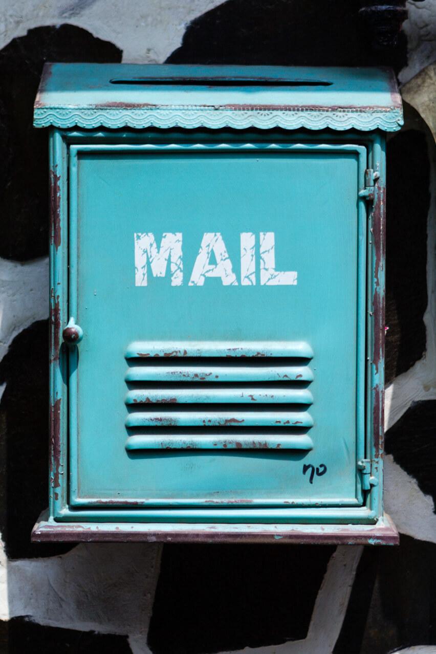 Ikseon Dong fun texture mail box