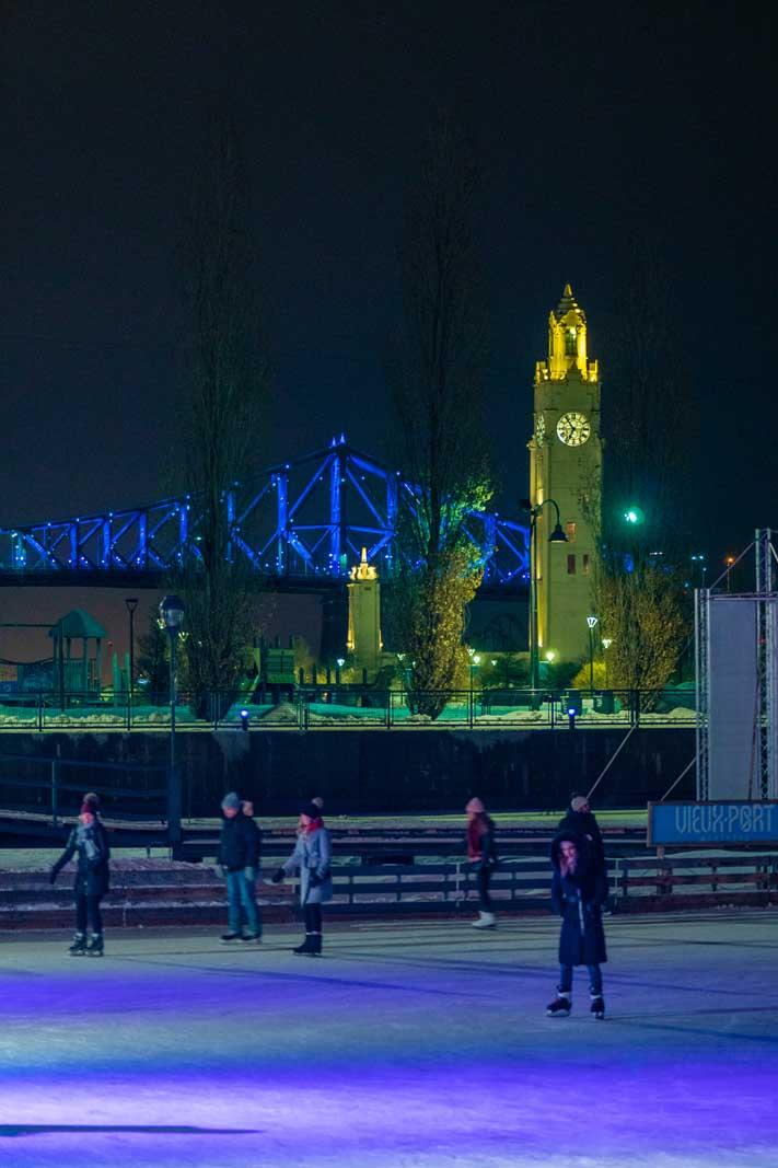 Ice Skating at Montreal Old Port