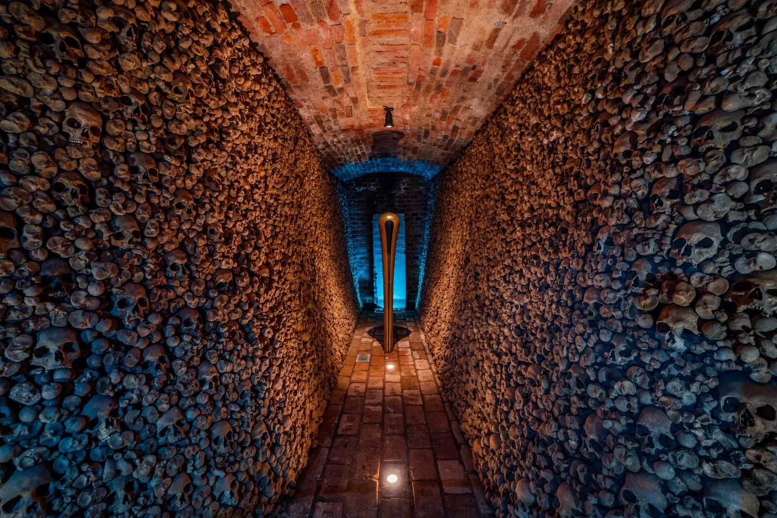 Inside Brno Ossuary