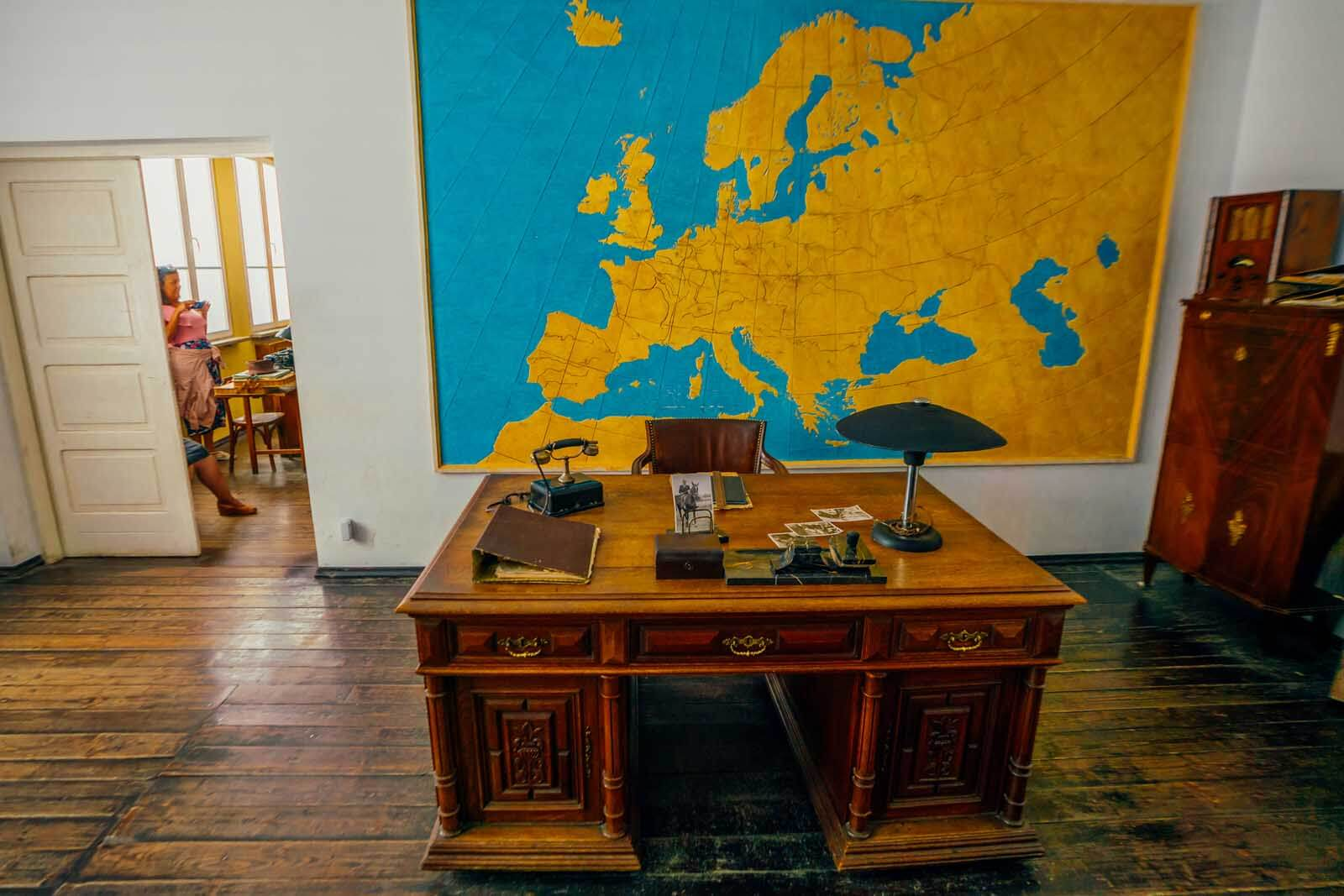 Oskar Schindler's Desk in the Oskar Schindler Factory in Krakow