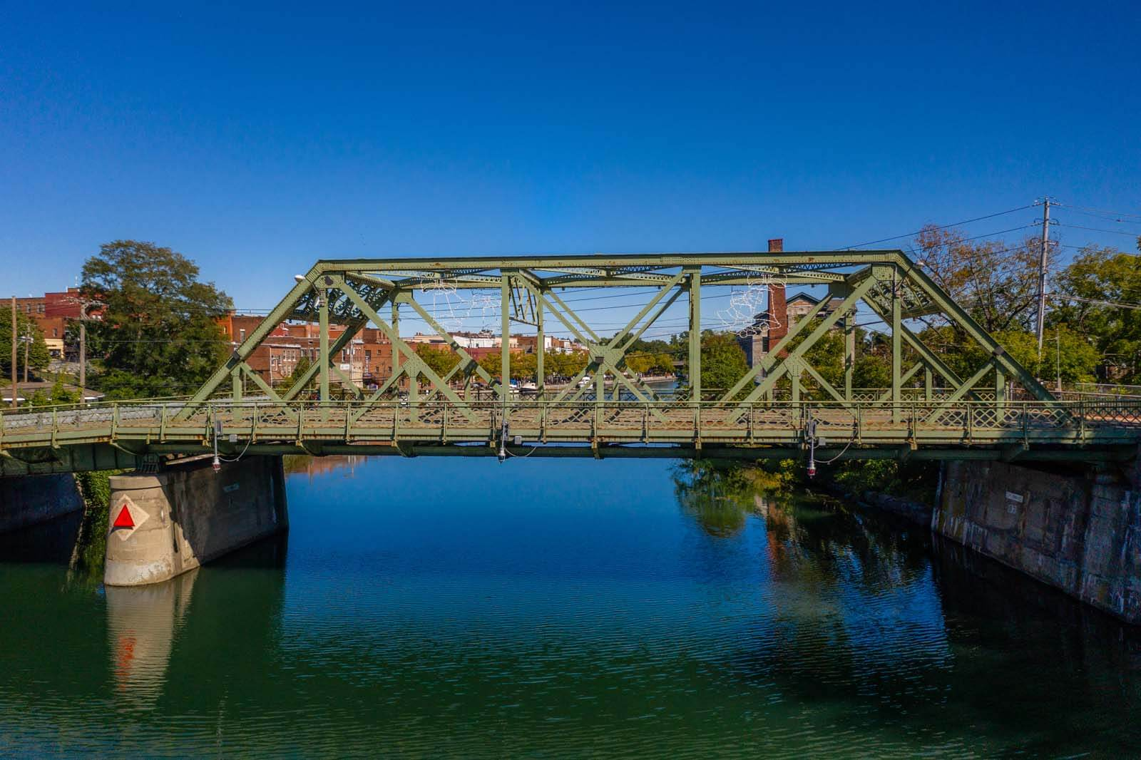 Its a wonderful life bridge in seneca falls in the finger lakes new york