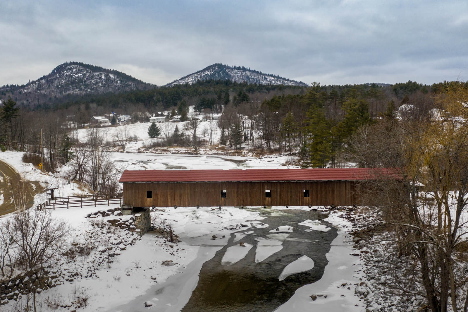 Jay Covered Bridge in Adirondacks New York