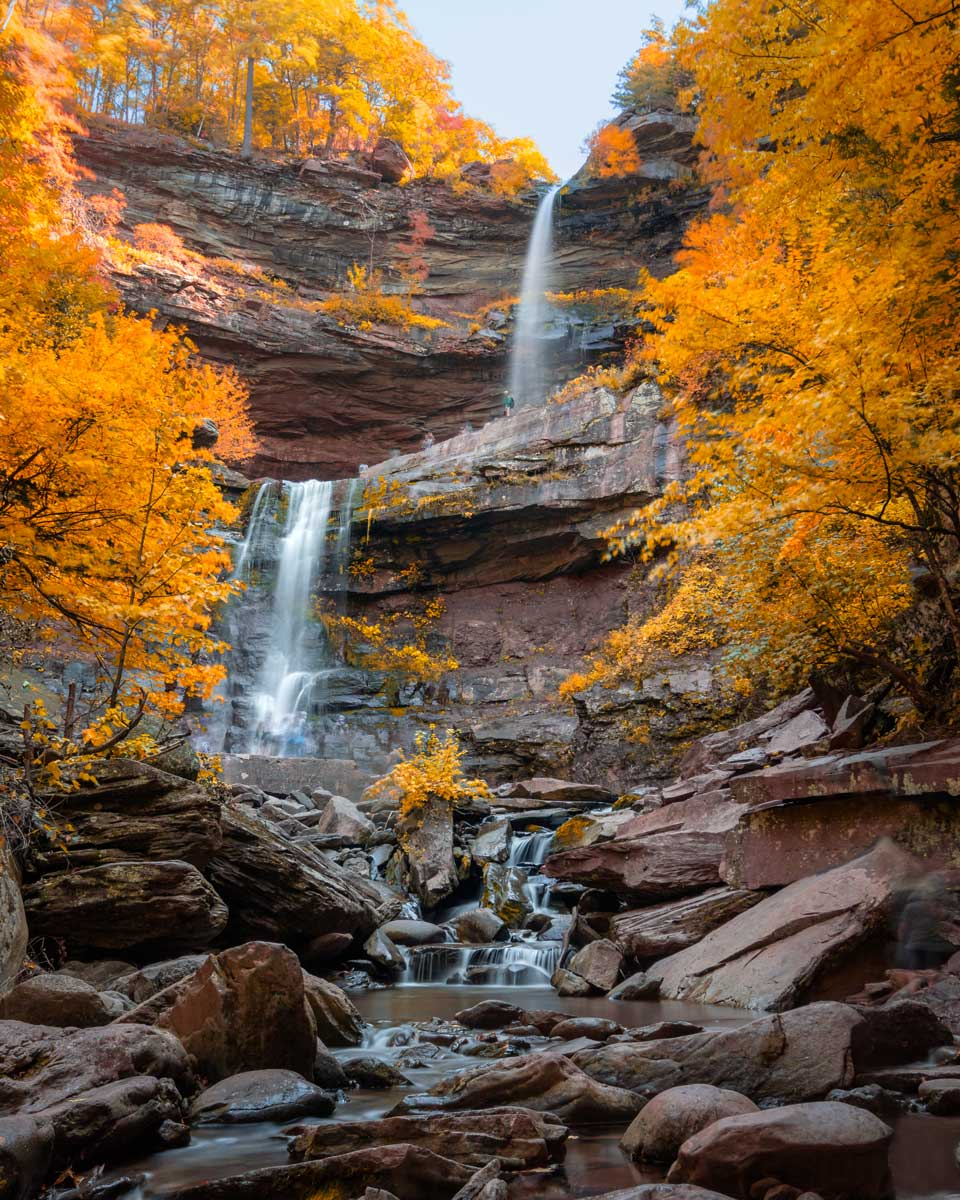 Kaaterskill-Falls-in-the-fall-in-the-Catskills-New-York