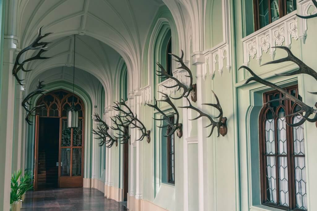 hallway in Lednice Chateau in Mikulov