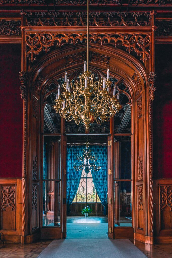 beautiful woodwork in Lednice Chateau in Czech Republic