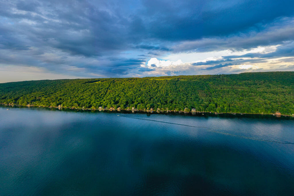 Keuka-Lake-from-above in the Finger Lakes