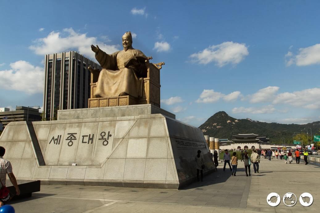 King Sejong Statue, Gwanghwamun Square, Seoul Itinerary