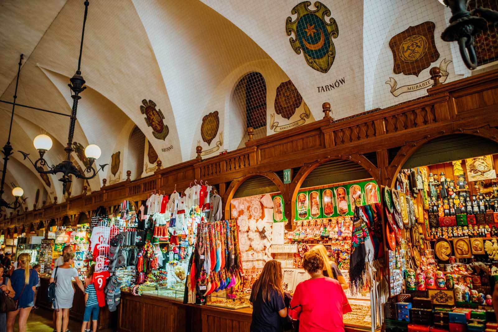 Cloth Hall in Krakow Poland