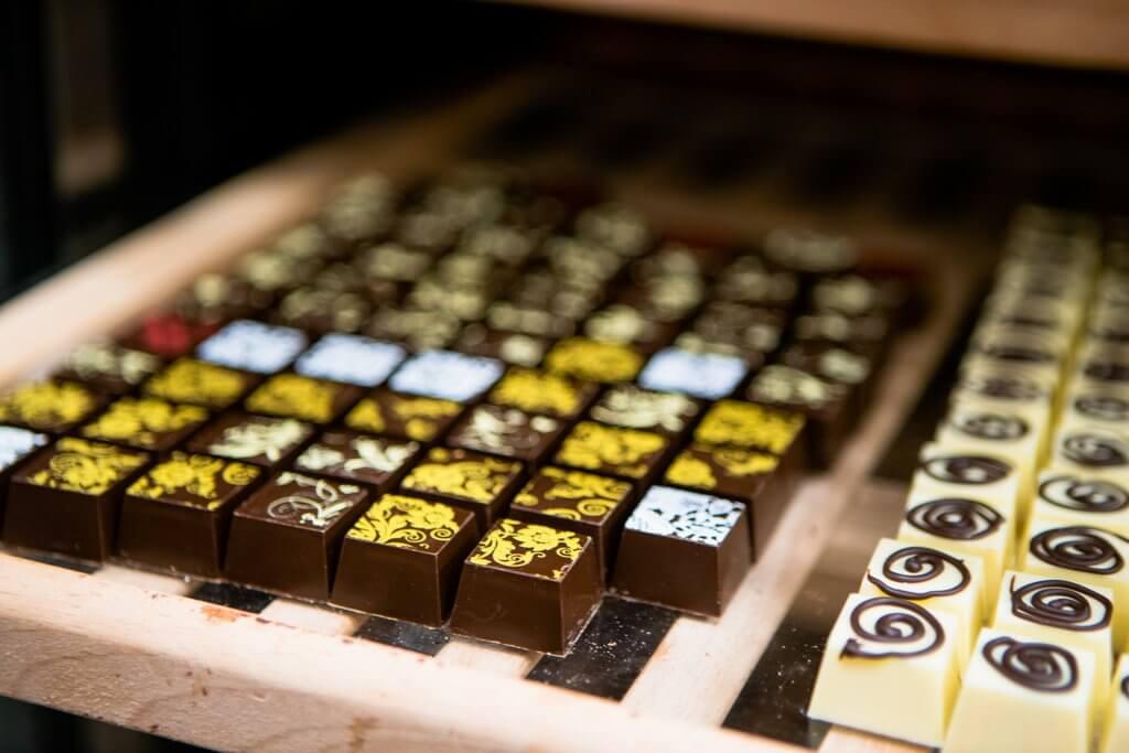 delicious belgian chocolate in Kromeriz Czech Republic