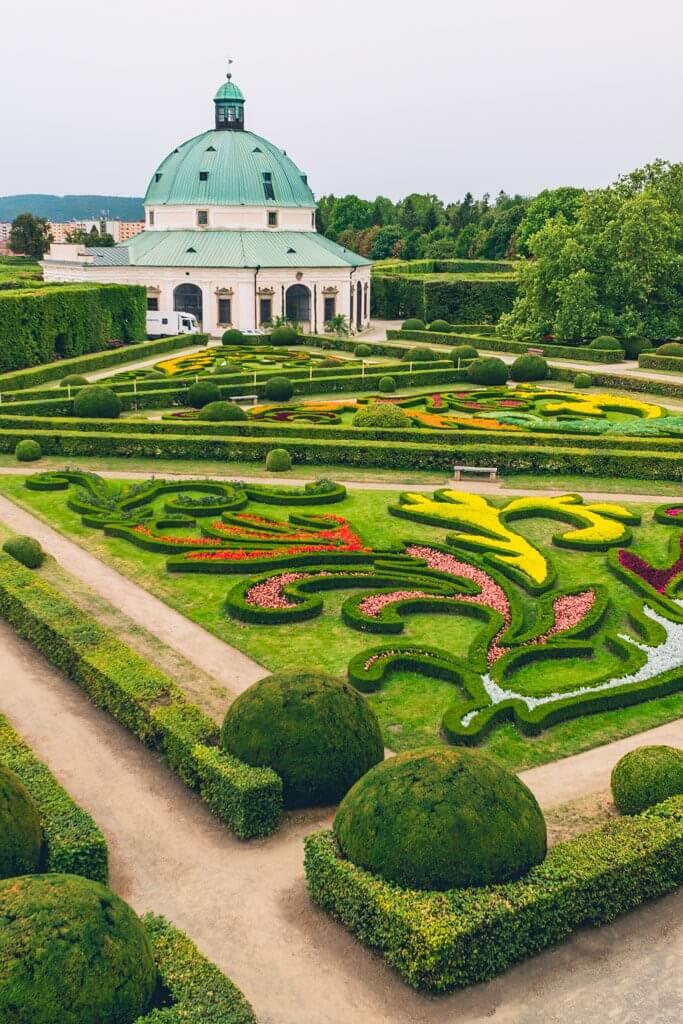 Baroque gardens in Kromeriz Czech Republic