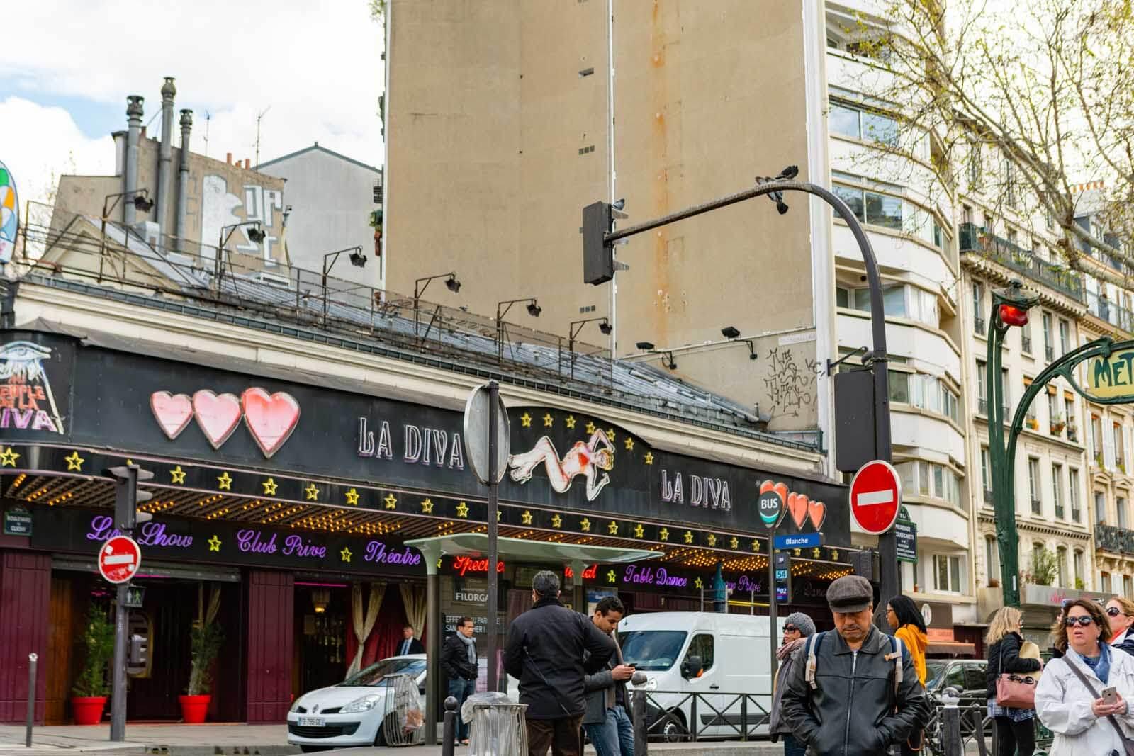 La Diva club and cabaret on Boulevard de Clichy in Montmartre Paris
