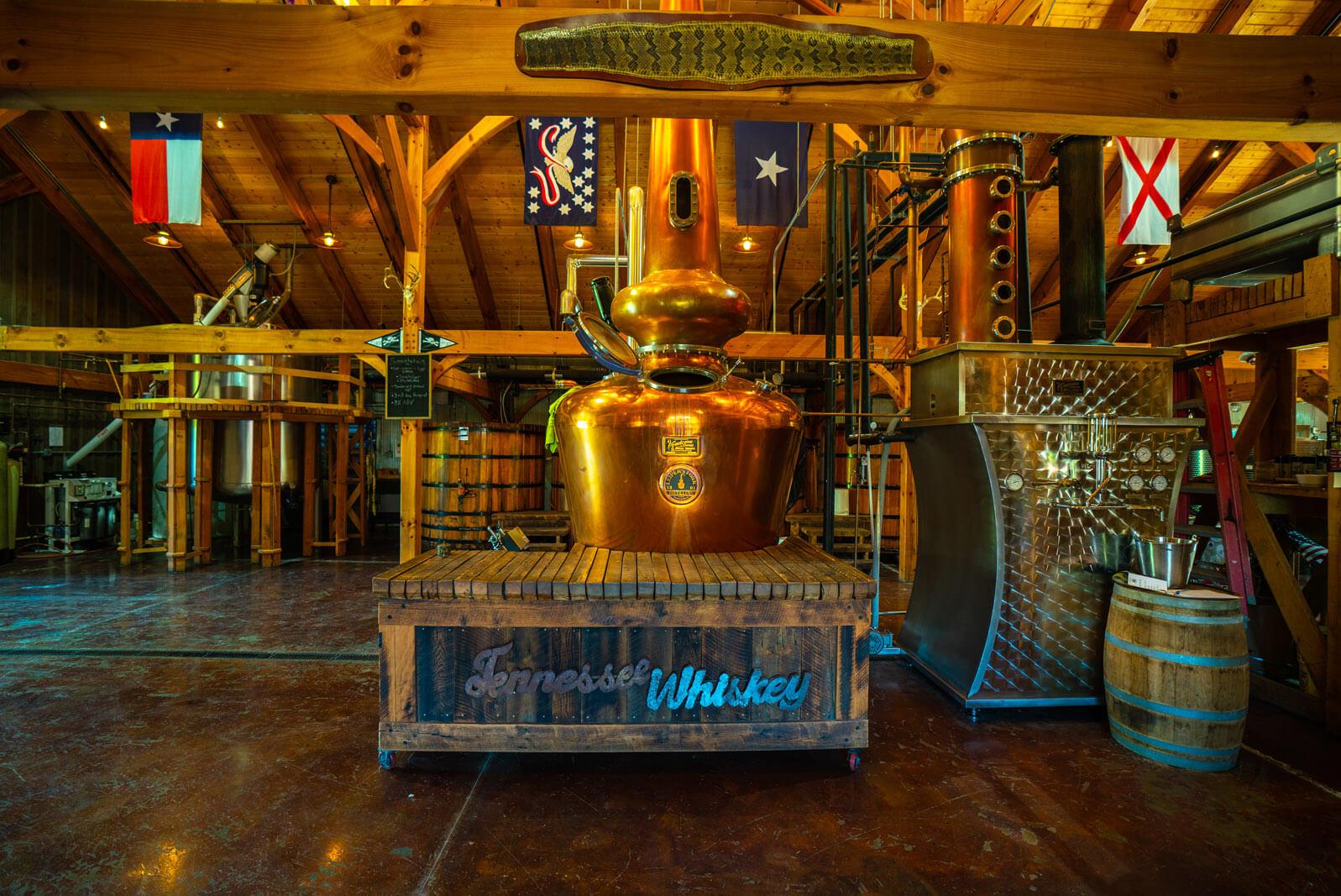 Leipers Fork Distilling distills their whiskey near Franklin Tennessee