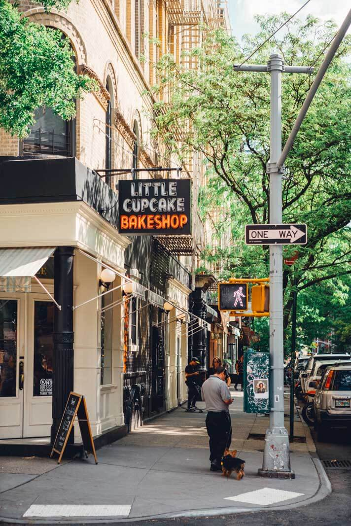 the exterior of the Little cupcake bakeshop on Prince Street in Nolita