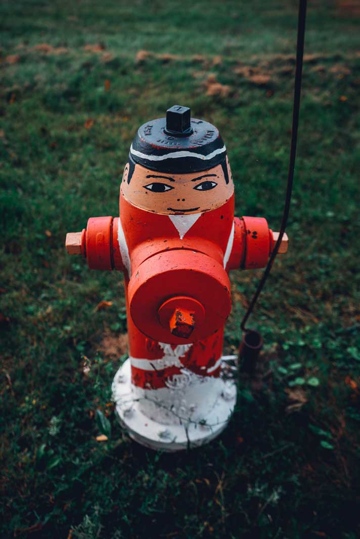 The painted fire hydrants in Liverpool Nova Scotia