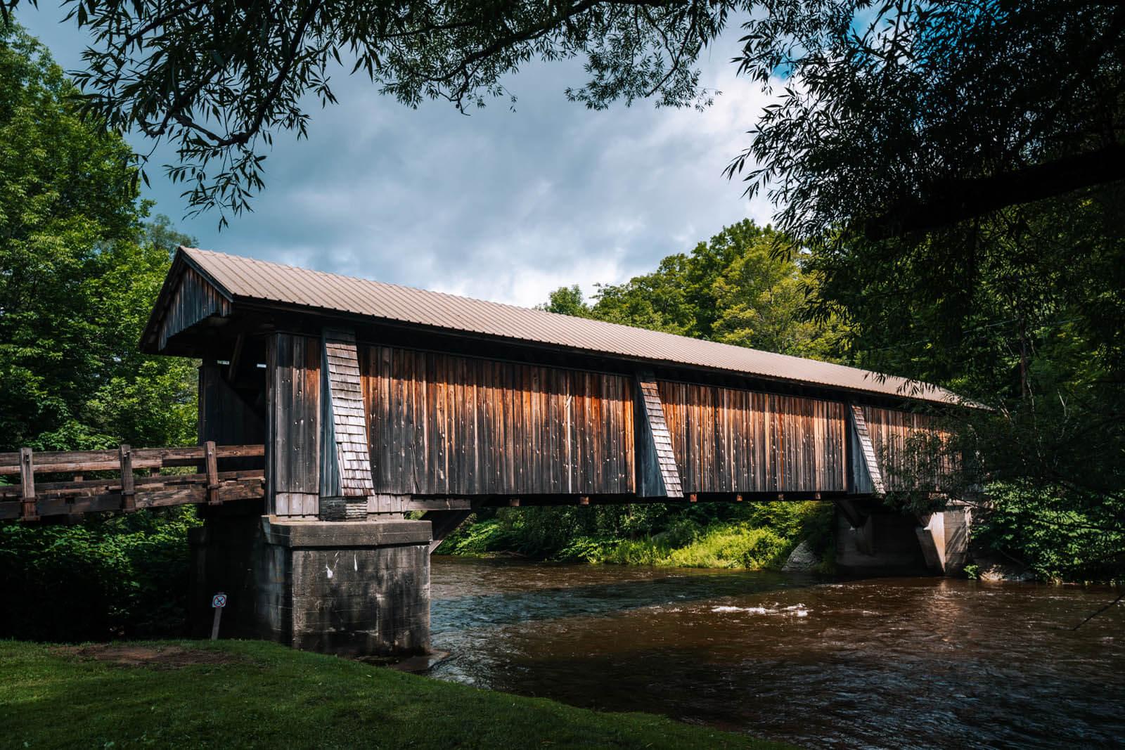 Livingston Manor Covered Bridge in New York