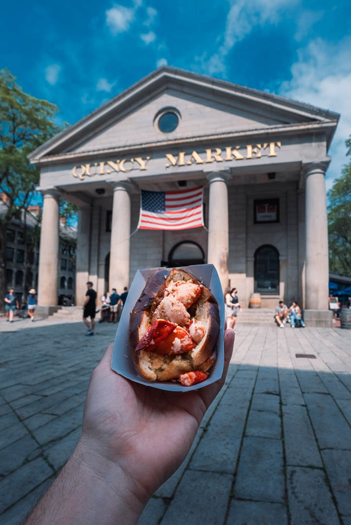 Lobster Roll at Quincy Market in Boston