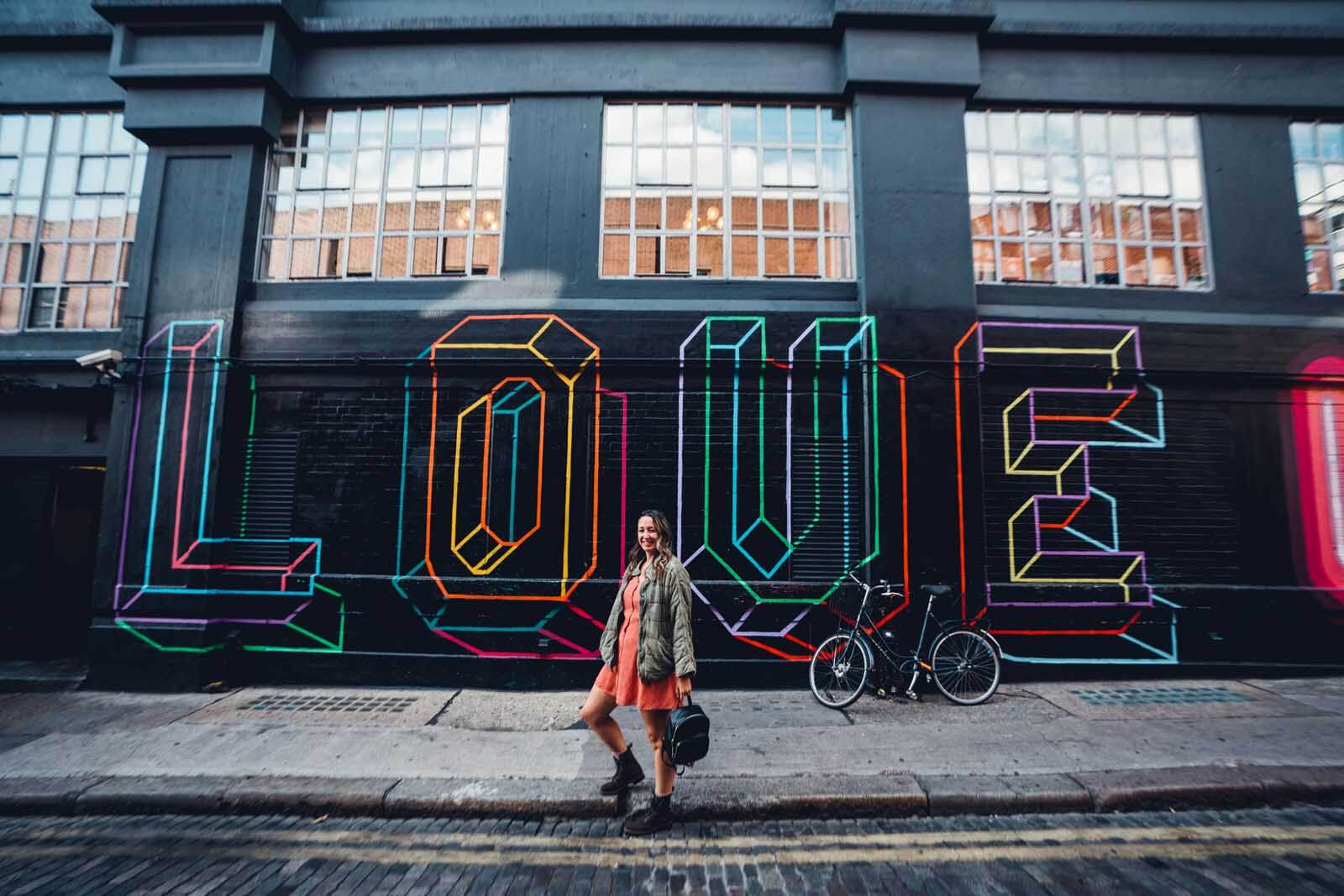 Love Mural in London East End