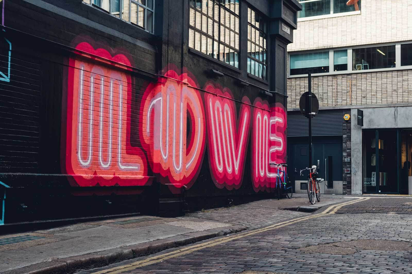 Love Wall in East End London
