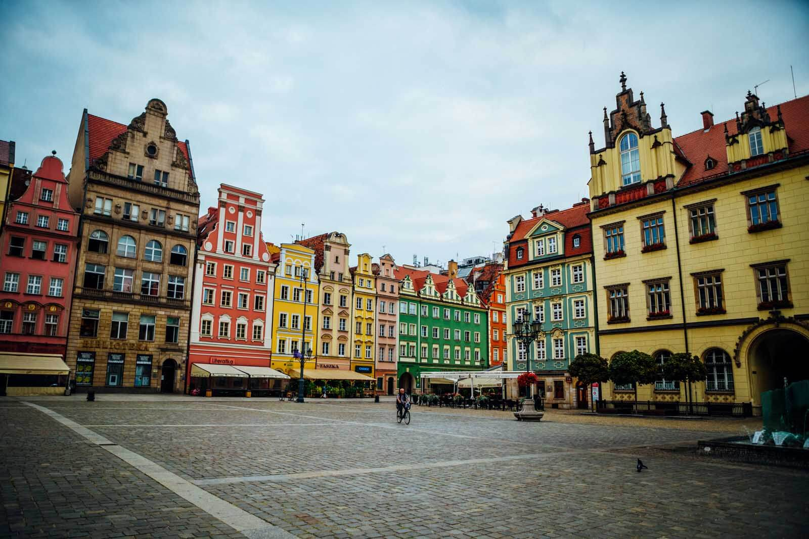 Colorful Main Market Square in Wroclaw