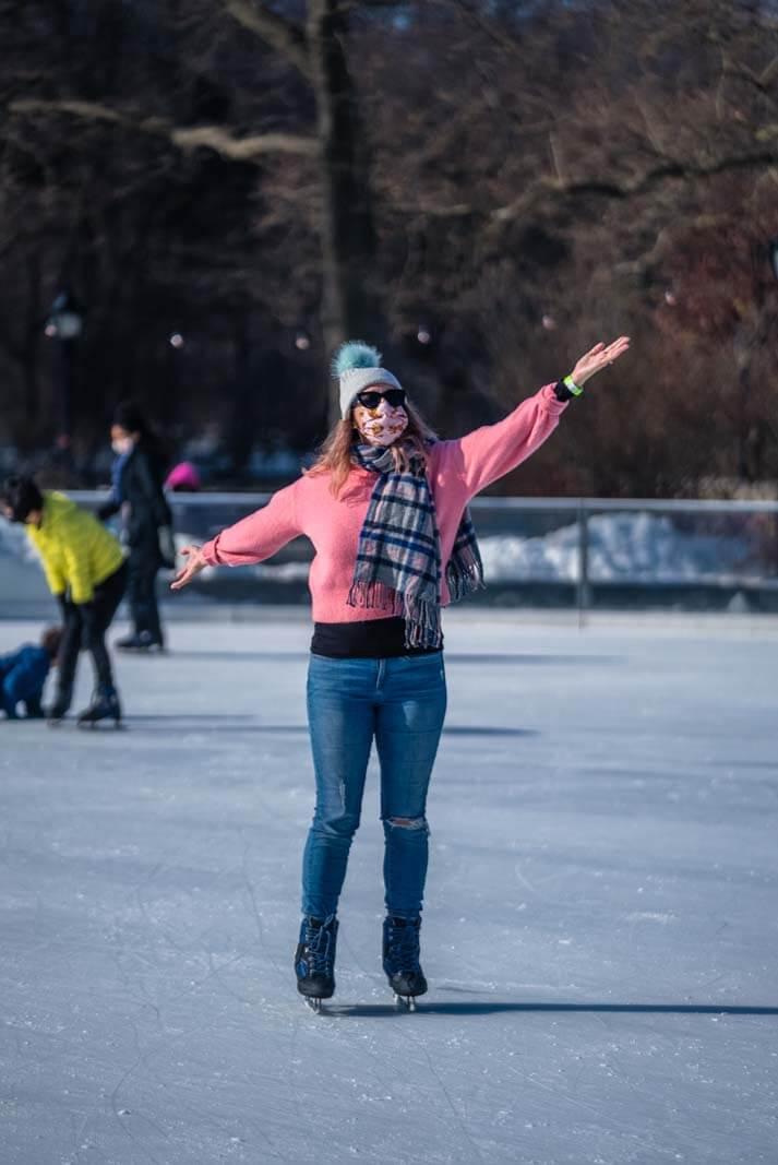 Megan enjoying Prospect Park Ice skating in Brooklyn