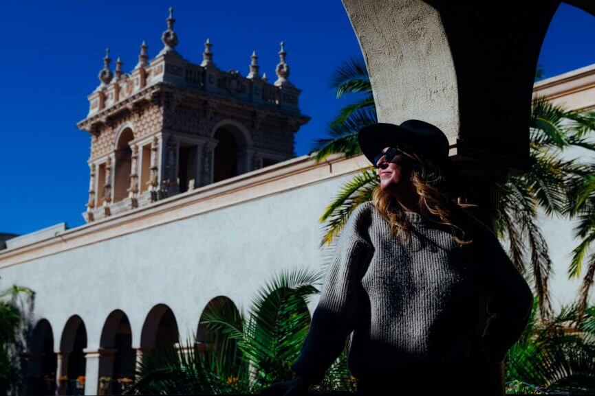Megan at Balboa Park in San Diego