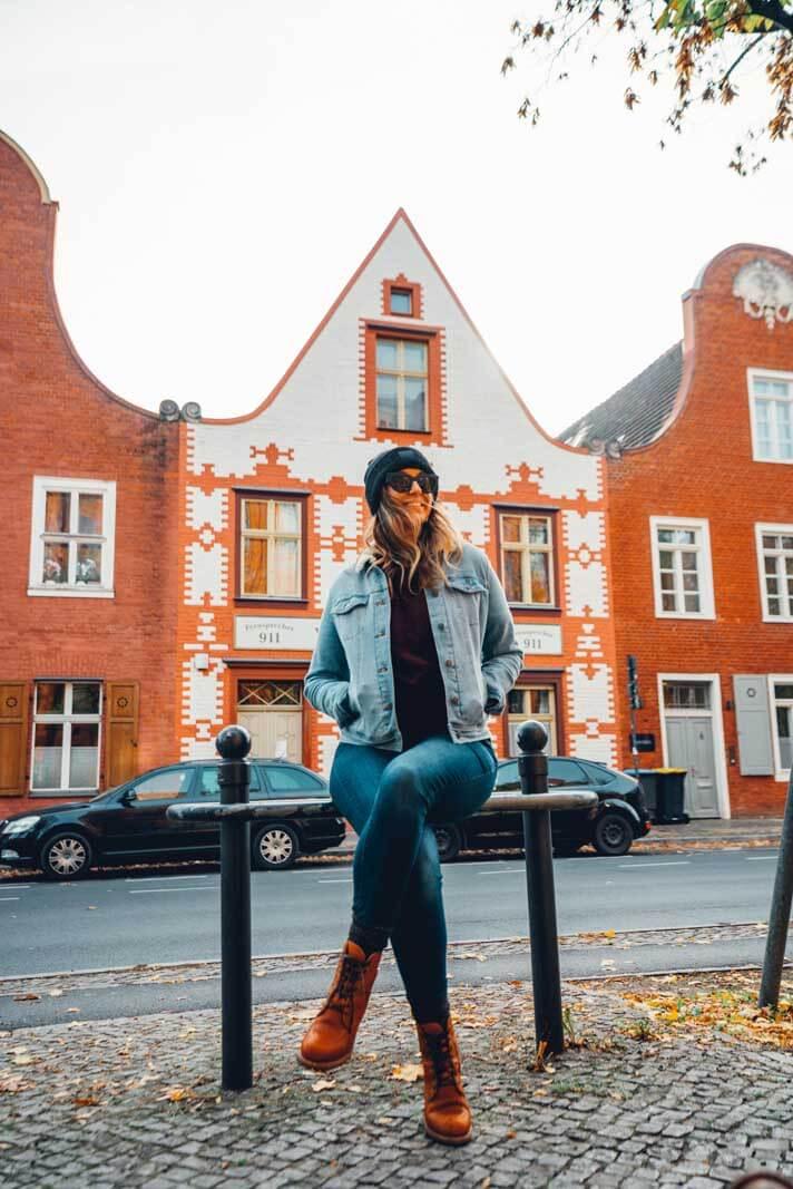 Megan in the Dutch Quarter of Potsdam