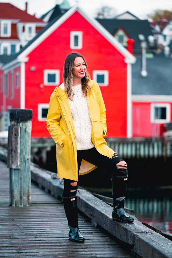 Megan on the dock in Lunenburg on the waterfront