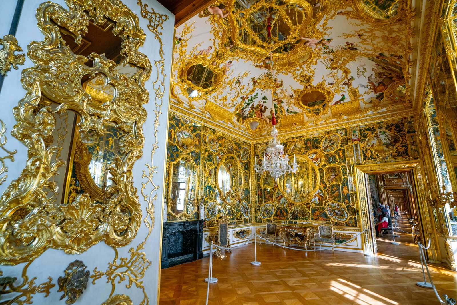 Room of Mirrors in Würzburg Residence in Germany