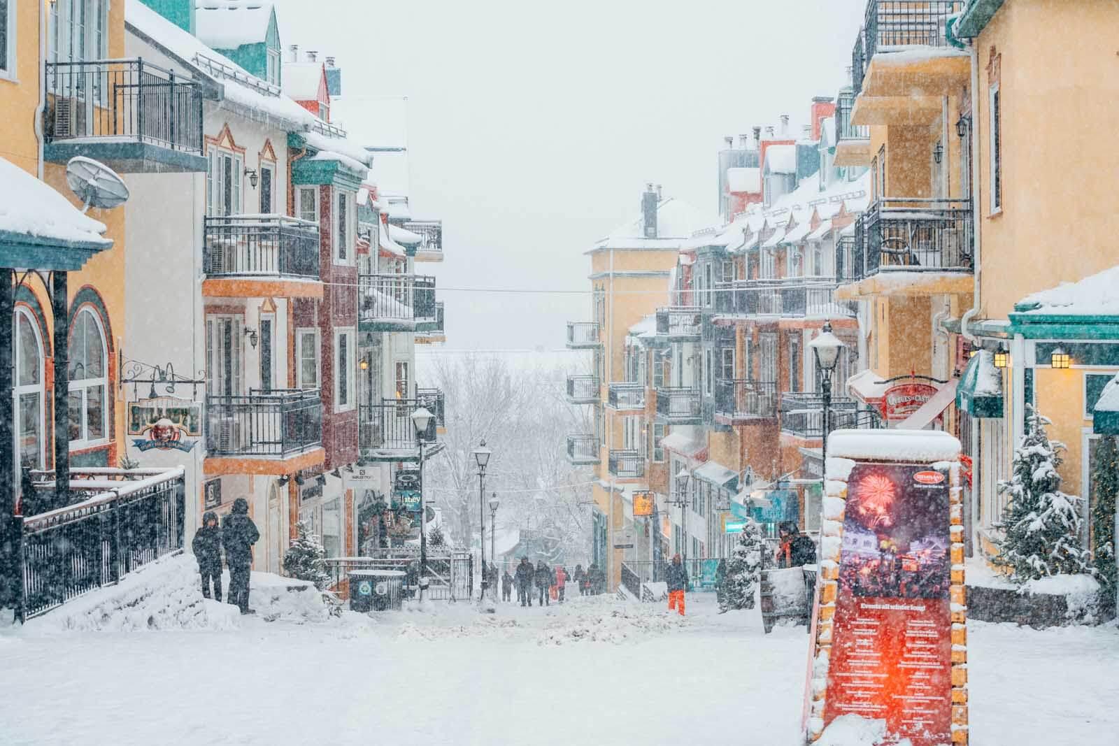 Mont Tremblant pedestrian village in Quebec Canada